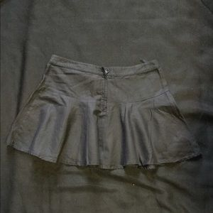 Dresses & Skirts - Black Linen Skater Mini Skirt